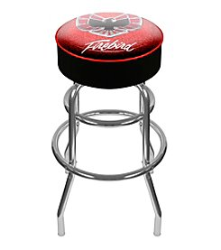 Pontiac Firebird Red Padded Swivel Bar Stool