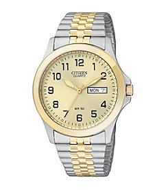 Citizen® Men's Two-Tone Stainless Steel Watch with Expansion Band