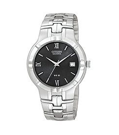 Citizen® Men's Stainless Steel Watch with Black Dial