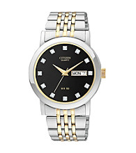 Citizen® Men's Two-Tone Stainless Steel Watch with Black Dial