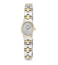 Citizen® Women's Oval-Shaped Two-Tone Stainless Steel Watch