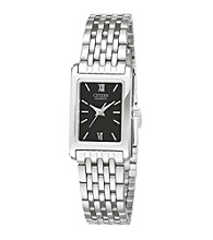 Citizen® Women's Stainless Steel Watch with Black Dial