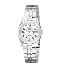 Citizen®Women's Stainless Steel Railroad-Approved Watch with White Dial