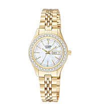 Citizen® Women's Goldtone Watch with Crystal Accents