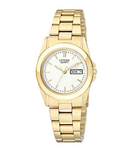 Citizen® Women's Goldtone Watch with White Dial