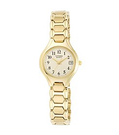 Citizen® Women's Goldtone Easy-Reader Watch