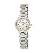 Citizen® Women's Two-Tone Stainless Steel Easy Reader Watch