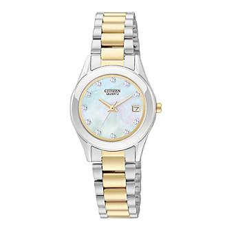 Citizen® Women's Two-Tone Stainless Steel Watch with Swarovski® Crystals