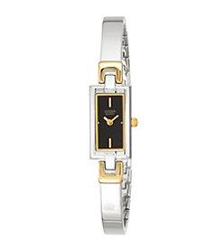 Citizen®Women's Two-Tone Stainless Steel Bangle Watch with Black Dial