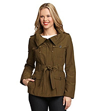 Jones New York® Belted Short Safari Trench Coat