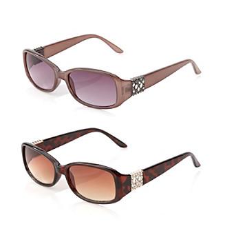 Relativity® Plastic Rectangle Sunglasses