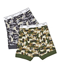 Jockey Boys' Navy/Olive 2-pk. Camo Boxer Briefs