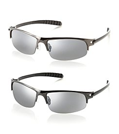 Paradise Collection® Men's Metal Wrap Sunglasses