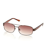 Paradise Collection® Men's Brown Tortoise Aviator Sunglasses
