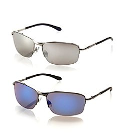 Paradise Collection® Men's Rimless Wrap Spring Hinged Sunglasses