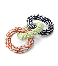 John Bartlett Pet Large 3-Ring Rope Toy for Dogs