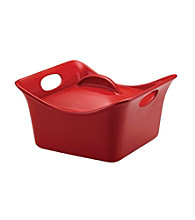Rachael Ray® Stoneware Red 3.5-qt. Covered Square Casserole