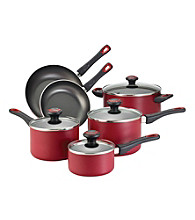 Farberware® High Performance Nonstick 10-pc. Red Cookware Set