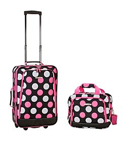 Rockland 2-pc. Multi Pink Dots Luggage Set
