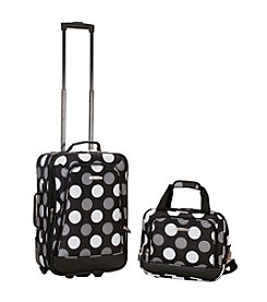 Rockland 2-pc. New Black Dot Luggage Set