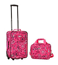 Rockland 2-pc. Pink Bandana Luggage Set