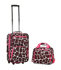 Rockland 2-pc. Pink Giraffe Luggage Set