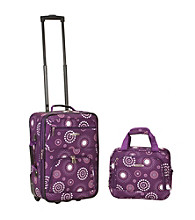 Rockland 2-pc. Purple Pearl Luggage Set