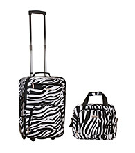 Rockland 2-pc. Zebra Luggage Set