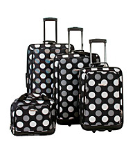 Rockland 4-pc. Black Dot Luggage Set
