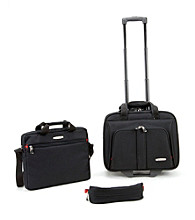 Rockland Black 3-pc. Rolling Lap Top Case Set