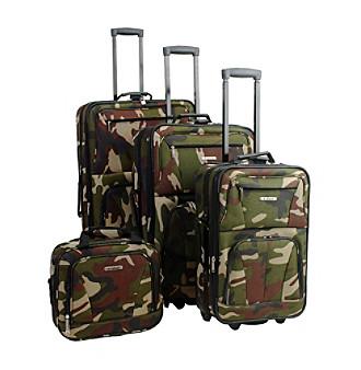 Rockland 4-pc. Camoflage Luggage Set