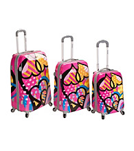 Rockland 3-pc. Vision Polycarbonate/ABS Luggage Set