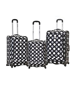 Rockland Polo Equipment Black Dots 3-pc. Fusion Spinner Luggage Set