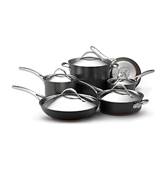 Anolon® Nouvelle Copper 11-pc. Grey Hard-Anodized Nonstick Cookware Set + FREE Gift see offer details