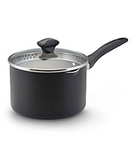 Farberware® Black Nonstick 3-qt. Covered Saucepan
