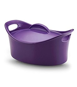 Rachael Ray® Stoneware 4.25-qt. Purple Covered Oval Casserole Pan