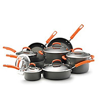 Rachael Ray® Hard-Anodized 14-pc. Cookware Set with Orange Handles