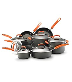 Rachael Ray® 14-pc. Hard-Anodized Cookware Set with Orange Handles
