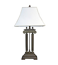 Ore International™ Home Decor Brushed Ivory Table Lamp