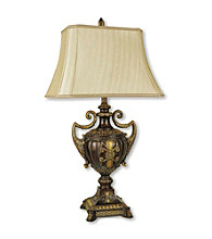 Ore International™ Antique Gold Urn-Shape Table Lamp