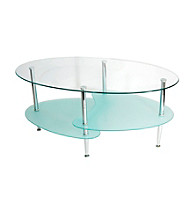 W. Designs Wave Oval Cocktail Table