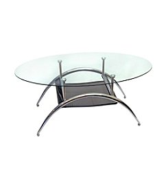 W. Designs Black Mesh Cocktail Table