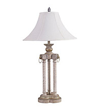 Ore International™ Brushed Ivory Deluxe Table Lamp