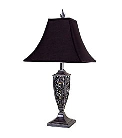Ore International™ Antique Black Table Lamp