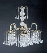 Ore International™ Classic Brass Finish Chandelier