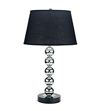 Ore International™ Metal And Black Bubble Table Lamp