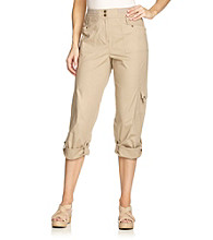 Laura Ashley® Petites' Cropped Cargo Pants