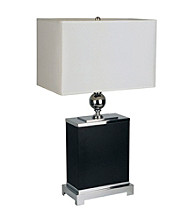 Ore International™ Black Rectangular Table Lamp