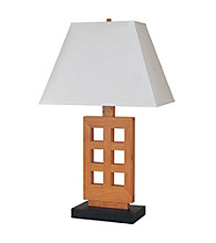 Ore International™ Wooden Table Lamp