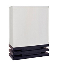 Ore International™ Black And White Rectangle Accent Lamp